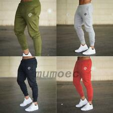Men Slim Fit Jogger Sports Gym Bodybuilding Running Track Trousers Sweatpants UK
