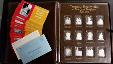 """NORMAN ROCKWELL'S """"BEST LOVED POST COVERS"""" SILVER BULLION VERY RARE BUY IT NOW"""