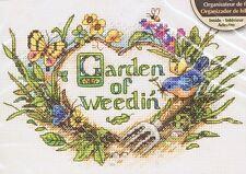 "Jardín de weedin 'Cross Stitch Kit-Dimensiones - 5"" X 7"""