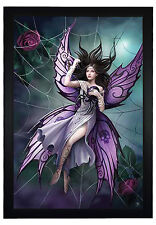 "Silk Lure by Anne Stokes, Butterfly Girl 24""x36"" Framed Fantasy Poster (G1-1008)"