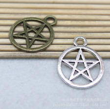 10pcs 20x24mm Antique Cute Alloy Pentagram Handmade Charm Pendant