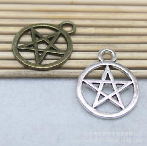10pcs 20x24mm Antique Cute Alloy Pentagram Handmade Charm Pendant