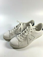 ARMANI JEANS Men's White Leather Casual Trainers Sneakers 10