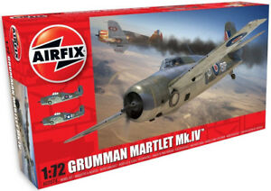 Airfix Grumman Martlet Mk.IV 1:72 Scale Plastic Model Plane Kit A02074