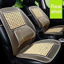 Universal Car Seat Cover Wooden Beaded Car Driver Seat Cushion Natural Summer US