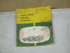 Original John Deere -1240 Planter - Operators Manual Om-B25481 issue # 19