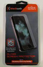 APPLE ~ IPHONE 5/5S/SE Glass Screen Protector ~ blackWeb (NEW) 0.4mm