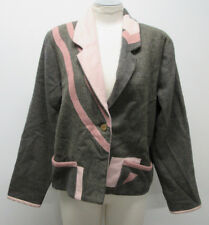 Vtg SCREAMING WOMEN Grand Rapids MI Artsy Art To Wear Blazer Jacket sz Small