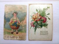 Vintage Russian Postcards Lot 2 pcs 1940-50 Old postcards Vintage ephemera