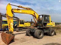 Jcb JS130W JS145W JS160W JS175W Wheeled Excavator Workshop Service Repair Manual