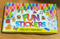 Box Of Childrens Fun Stickers 120 Pieces With Assorted Designs