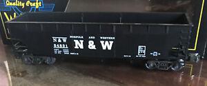 Weaver Quality Models ~ 3 Bay Coal Car Offset Norfolk & Western ~ U3905D In Box