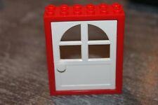 Légo - Door Frame 2 x 6 x 6 Freestyle ref 6235 Porte rouge et blanche