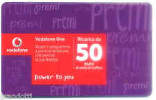 RICARICA VODAFONE 50 EURO VIOLA POWER TO YOU  31 12 2017 USATA