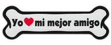 Dog Bone Shaped Car Magnets: YO HEART MI MEJOR AMIGO | Spanish