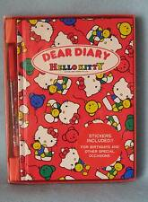 Sanrio Hello Kitty Dear Diary w/Stickers/Pen Collectible Vintage 1976-1990 New