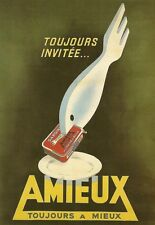 Art Poster Amieux Sardines 1952 French   Print
