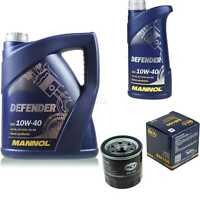 Ölwechsel Set 6L MANNOL Defender 10W-40 Motoröl + SCT Filter KIT 10190685
