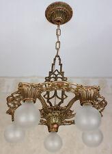 30's Antique Vintage VIRDEN WINTHROP Ceiling Light Fixture CHANDELIER