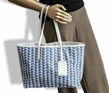 Moynat 2015 Blue/White Leather Casual Week-end RIVAGE TOTE BAG 35