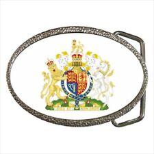 Royal Coat of Arms United Kingdom Chrome Finished Belt Buckle - Heraldic Surcoat