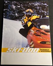 2001 SKI-DOO SNOWMOBILE CLOTHING & ACCESSORIES SALES BROCHURE 8 PAGES   (402)