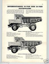 1956 PAPER AD International Harvester IH Payhauler Dump Truck Utility Tractor