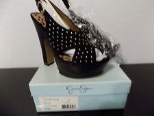 "Jessica Simpson Kingston Women""s Suede Platforms Black Heels New Size 9.5M"