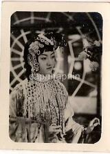 Lovely Young Asian Woman In Elaborate Costume Dress Vintage 1950s Photo
