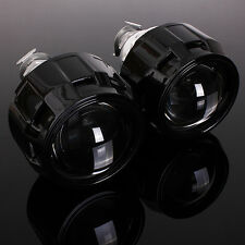 2x LHD 2.5'' Car Mini HID Bi-xenon Projector Halo Lens Kit Headlight Shroud H1