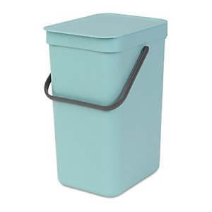 Brabantia Sort & Go Waste Bin, 16L/4.2 Gal. , 16 L, Mint