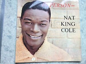 """Nat king cole, in person 12"""" vinyl record Lp free post"""