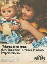 X7636 Valeria - EFFE - Bambole Franca - Pubblicità del 1977 - Advertising