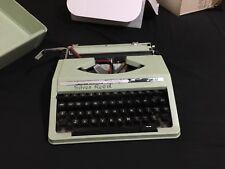 Vintage Retro Silver Reed Portable Typewriter SR200!- Light Green