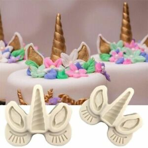 Unicorn Fondant Cake Silicone Mold Cookies Chocolate Biscuits DIY Baking Mould
