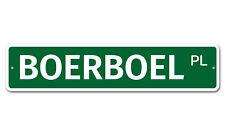 "5324 SS Boerboel 4"" x 18"" Novelty Street Sign Aluminum"