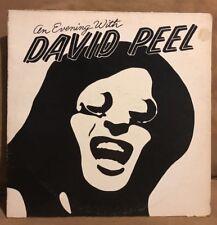 AN EVENING WITH DAVID PEEL - ORANGE RECORDS - 1975 - ORA 713 - EXCELLENT