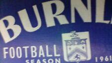 Burnley v Birmingham City - Original Match Programme - 3 February 1962