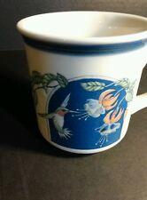 Otagiri Japan Coffee Mug Hummingbird  Fuchsia Flowers Vintage Cup
