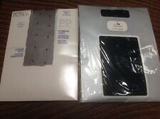 "2 X new ( Vintage) 36""-42"" Hip Pretty Polly/Swan PP Fashion Dots tights - Black"