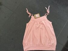 NWT Juicy Couture New & Genuine Pale Pink Sleeveless Cotton Cami Girls Age 8