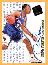 1998 Press Pass Authentics Autograph Paul Pierce Kansas Jayhawks Auto Celtics