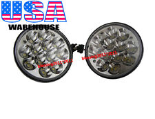"5-3/4"" LED Cree Light Bulbs Crystal Clear Sealed Beam Headlamp Headlight PAIR AG"