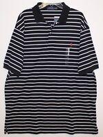 Polo Ralph Lauren Big Tall Mens 3XB Black Striped Soft Cotton Polo Shirt NWT 3XB