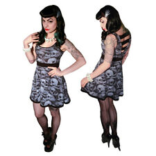 Kreepsville 666 Skull Pile Penny Dress Black and White Size XL