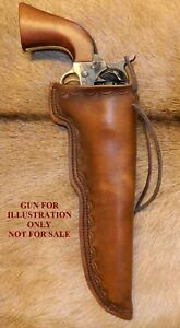 """Gary C's Leather Western Slim Jim Right Hand HOLSTER 1860 Army 8"""", hammerthong"""