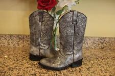 Rockin Leather #2116 Round Toe Distressed Black Western Boot Size 6.5B (bot500
