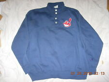 Cleveland Indians CHIEF WAHOO XL/2X Heavy Poly/Cotton 4-Button Pullover Jacket