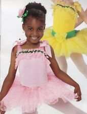 NWT Ballet Costume Girls size 2-3 Bright Pink Lace skirt Ballerina Fun RibbonTR