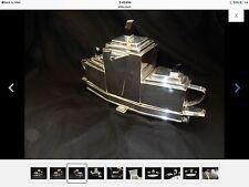 silver tea set Looks Like A Boat 4 Pieces